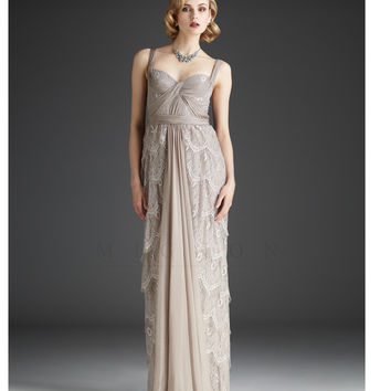 Mignon Fall 2013- Champagne Lace Gown - Unique Vintage - Prom dresses, retro dresses, retro swimsuits.