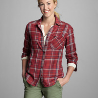 Women's Tranquil Boyfriend Shirt - Plaid | Eddie Bauer