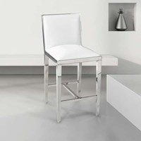 Modern Faux Leather Upholstered Armless Counter Stool | Overstock.com Shopping - The Best Deals on Bar Stools