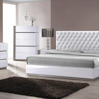 Ultra Modern White Bedroom Set - Opulentitems.com