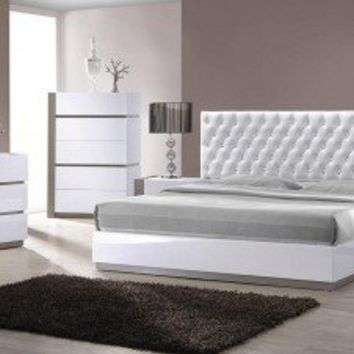 Ultra modern white bedroom set from opulent items epic - Ultra contemporary bedroom furniture ...