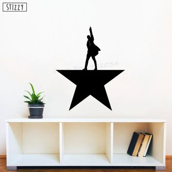 STIZZY Wall Decal Alexander Hamilton Star Pattern Vinyl Wall Sticker Interior Art Mural Adhesive Poster Design Office Decor B653