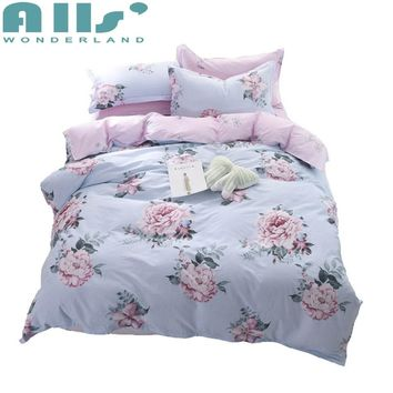 Luxury Bedding Duvet Covers Set King Flowers California Pink Bed Sheet Set Pillow Cover Queen and King Bed Cotton Set