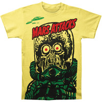 Mars Attacks! Men's Big Yellow Martian Subway T-shirt Yellow