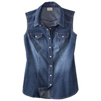 Mossimo Supply Co. Juniors Sleeveless Denim Top - Assorted Colors