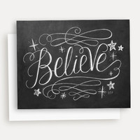 Believe - A2 Note Card