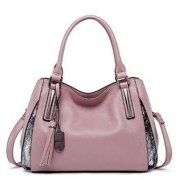 Genuine Leather Casual Shoulder Handbag