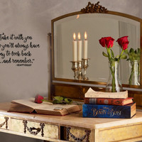 Inspired by Beauty and the Beast Wall Decal StickerA way to look back and remember