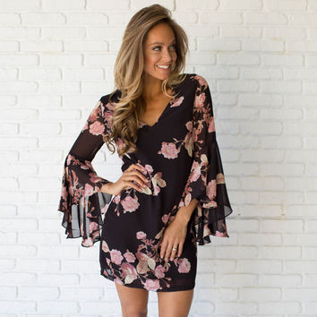 All Mine Floral Shift Dress