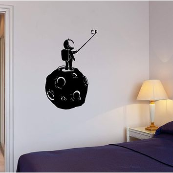 Wall Decal Moon Astronaut Space Universe Selfies Vinyl Sticker (ed1278)