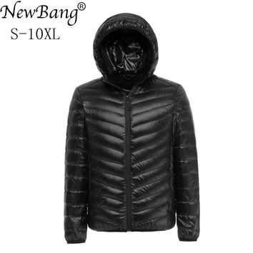 NewBang Brand 7XL 8XL 9XL 10XL Duck Down Jacket Men Winter Jacket Men Hooded Waterproof Down Jackets Male Warm Down Coat