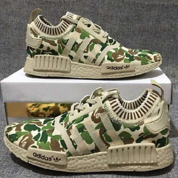 """""""ADIDAS"""" Trending Fashion Casual Sports Shoes Camouflage Green"""