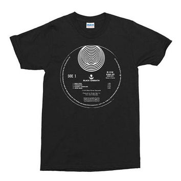 Black Sabbath - Vol. 4 Record Label T Shirt