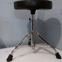Vintage, Tri Pod, Stool, Portable Stool, Collapsable Stool, Round Stool, Metal, Upholstered, Black, RhymeswithDaughter