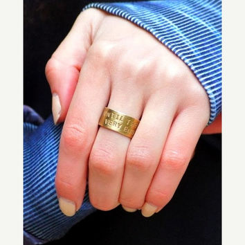 shesalering coordinates - personalized unisex ring - name - dedication - date