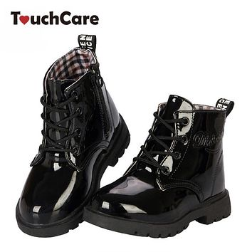New fashion children martin boots girls boys winter shoes kids rain boots Leather Kids Sneakers