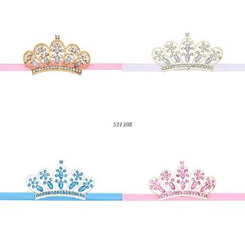 Newborn Baby Girls Toddler Rhinestone Tiara Headband Princess Crown Hairband