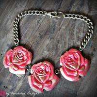 Rose Garden Collar Necklace - W.I.L. by Ouroboros Designs