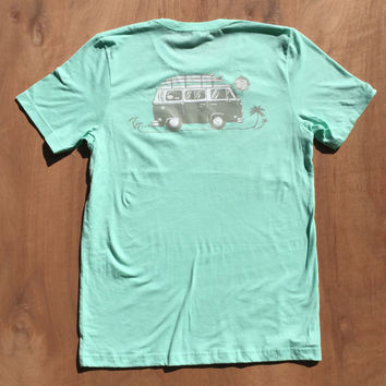 Surf Bus Shirt | VW Bus Shirt | Surfer Bus | Surf Van | Follow the Sun | Mint