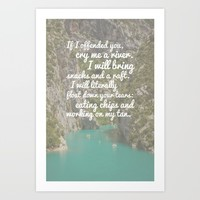 River of Tears Art Print by The Backwater Co