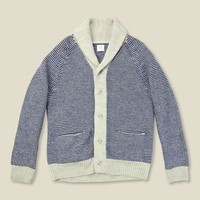 Save Khaki - Stripe Shawl Cardigan, FW13