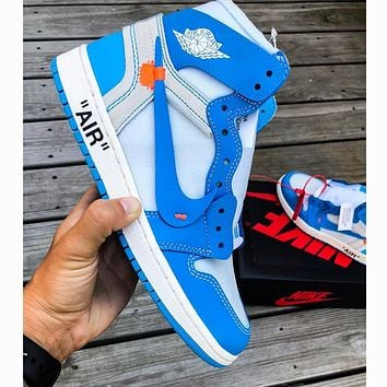NIKE AIR JORDAN 1 X OFF-WHITE AJ1 HIGH OG Gym Shoes