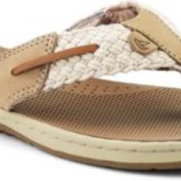 Sperry Top-Sider Parrotfish Thong Sandal Ivory, Size 6M  Women's Shoes
