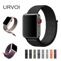 URVOI Sport loop for apple watch series 3 2 1 band for iwatch double-layer woven nylon breathabe strap hook-and-loop fastener