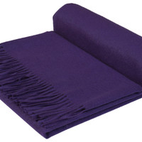 GOBI Mongolian Cashmere Home Throw solid in Purple  79 x 57 in