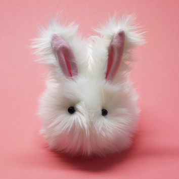 Cottonball Easter Bunny Momma Sized Stuffed Animal Plushie