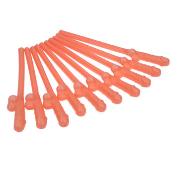 10PC Bachelorette Dance Party Occasions Funny Straw Drinking Penis Straws Dicky Sipping Straw Joke Toys Party Supplies