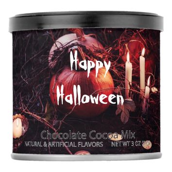 Rustic Halloween Pumpkin and Candles Hot Chocolate Drink Mix