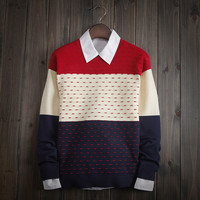 Men's Comfortable Soft Round Collar Sweater