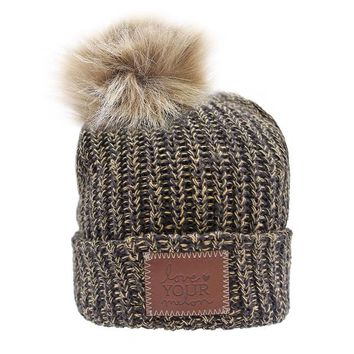 Batman Speckled Pom Beanie (Natural Pom) - Love Your Melon