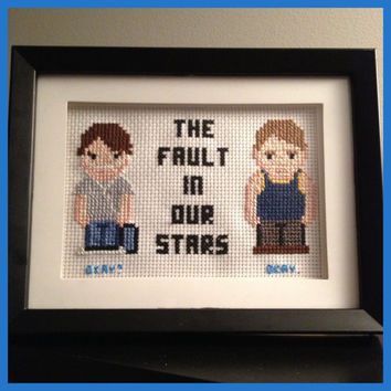 The Fault in Our Stars Cross Stitch Picture Framed