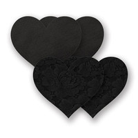Nippies® Basic Black Lace Heart Pasties