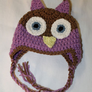 Newborn or Toddler Crochet Owl Hat by makinitmama on Etsy