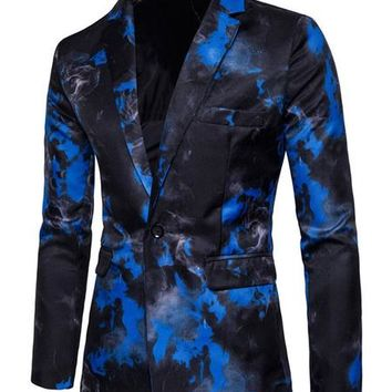 Mens Single Breasted Smoking Blazer - 2 Colors