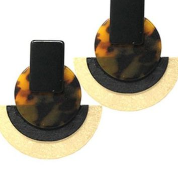 Fashion Celluloid Drop Post Earrings