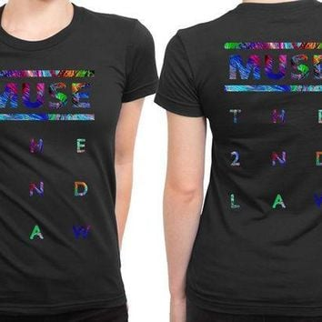 MDIG1GW Muse The Second Law Title Colorize 2 Sided Womens T Shirt