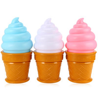 New Hot Novelty Led Night Light Ice Cone Cream Lamp Led Lamp Night for Kids Children Bedroom Decor Lights