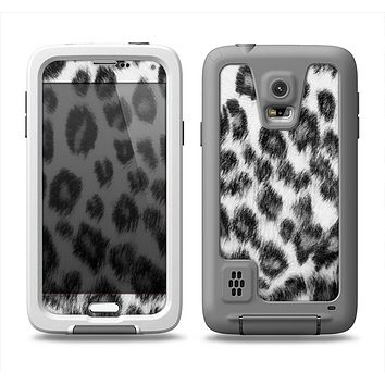 The Real Snow Leopard Hide Samsung Galaxy S5 LifeProof Fre Case Skin Set