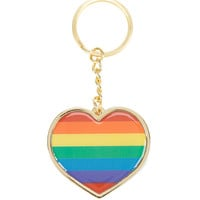 Rainbow Heart Key Chain