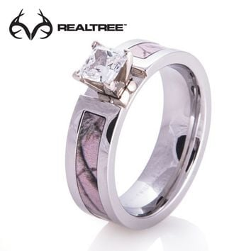 Realtree Camo Engagement Ring with Stone
