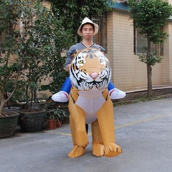 Cosplay INFLATABLE TIGER FANCY DRESS COSTUME SAFARI ZOO SUIT halloween Costume for Women/Men Inflatable Tiger Costume