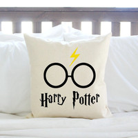 3 Styles - Harry Potter Pillow w/ Lightning Bolt and Glasses