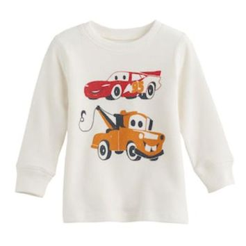 DCCKX8J Disney / Pixar Cars 3 Baby Boy Lightning McQueen & Mater Thermal Tee by Jumping Beans® | null