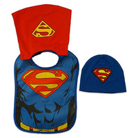 Superman Bib and Hat Set