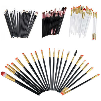 20pcs Professional Makeup Cosmetic Brushes Set For Women Soft Foundation Eyeshadow Eyeliner Lip Brush Tool Accessories