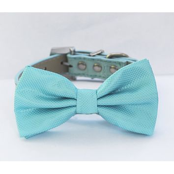 Sky Blue Dog Bow Tie collar, Elegant , Something blue